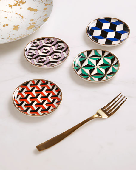 Image 1 of 3: Jonathan Adler Versailles Coasters, 4-Piece Set