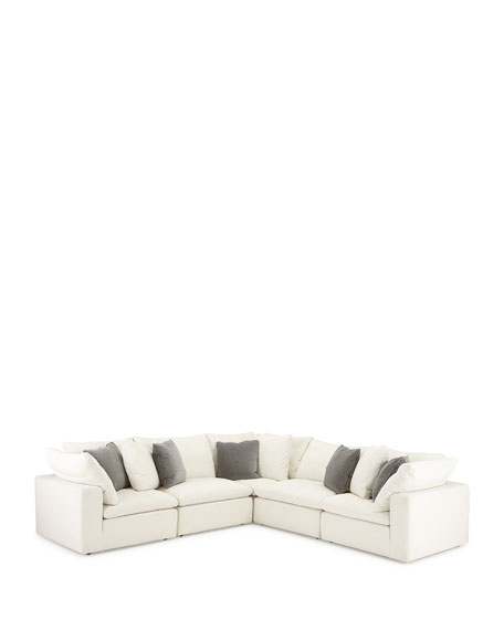 Jeanette 5-Piece Slipcover Sectional