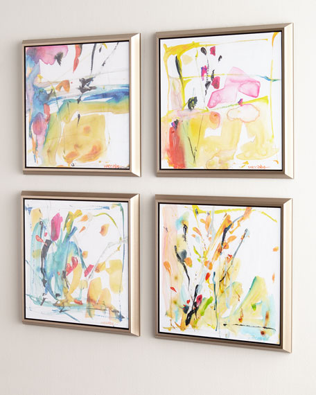 4-Piece Giclee on Canvas Wall Art Set