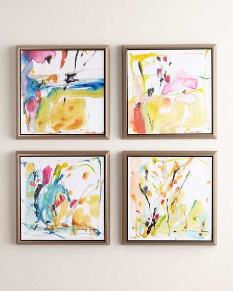 4-Piece Giclee on Canvas Wall Art Set
