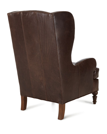 Walker Leather Wing Chair