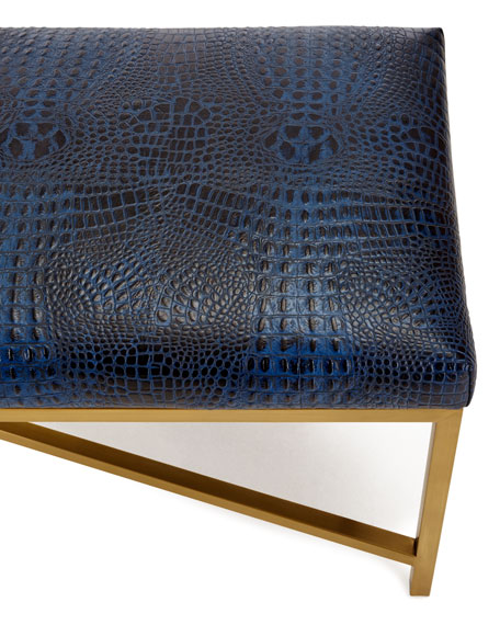 Toma Crocodile-Embossed Bench