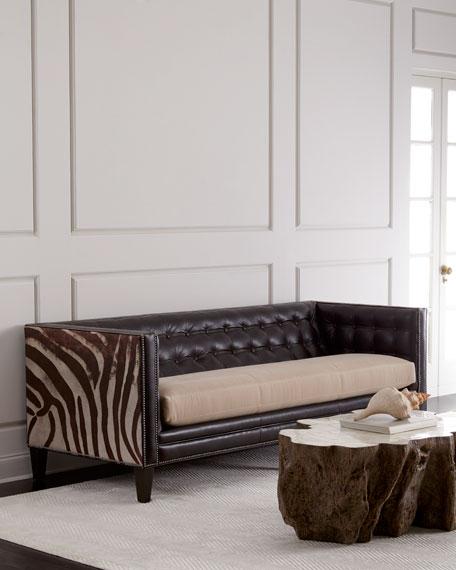 "Massoud Geronimo Leather Sofa 90"""