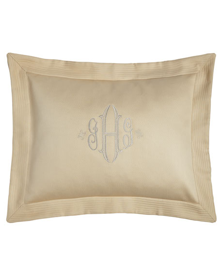 Standard Angelina Pique Sham with Block Monogram