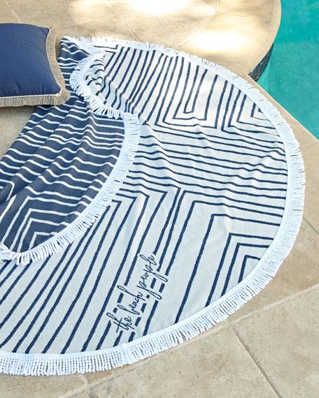 Avalon Round Beach Towel