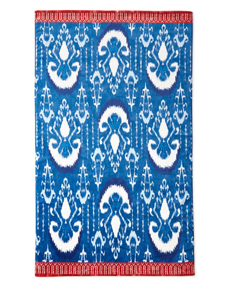 Image 2 of 2: John Robshaw Vaya Indigo Blue Beach Towel
