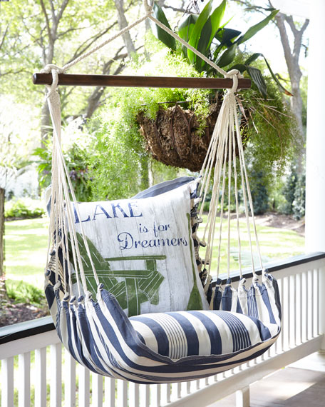Swing with Lake Pillow
