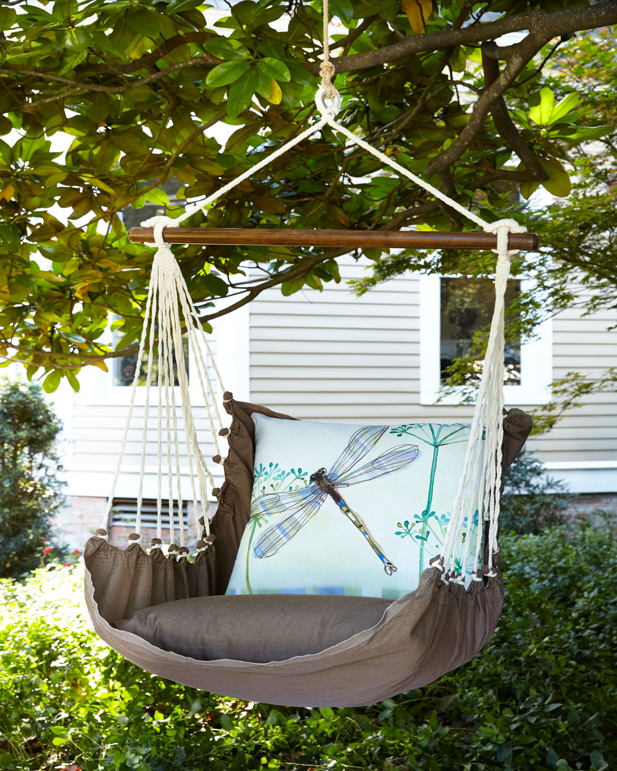 Swing With Dragonfly Pillow Neiman Marcus