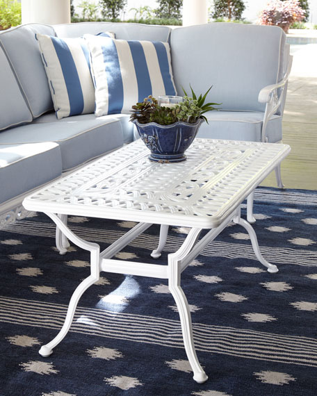Brown Jordan Day Lily Outdoor Coffee Table