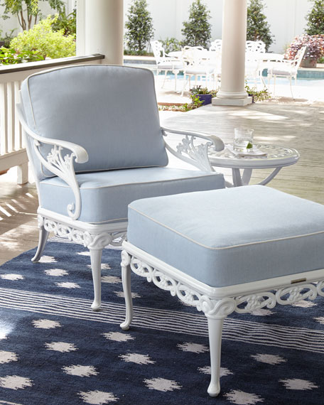 Brown Jordan Day Lily Outdoor Ottoman