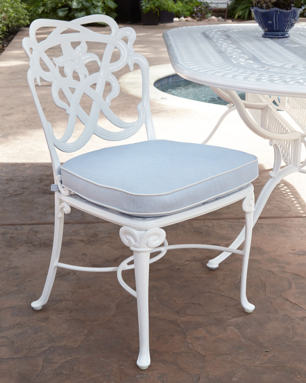 Brown Jordan Day Lily Outdoor Dining Side Chair Neiman Marcus