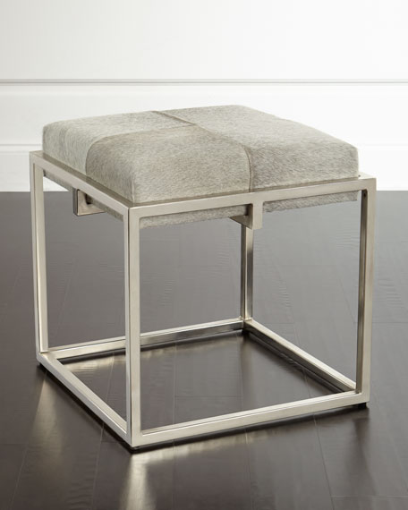 Jamie Young Hobson Hide Ottoman