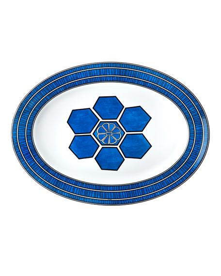 Hermès Bleus D'Ailleurs Large Oval Platter