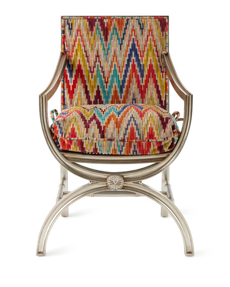 Dawn Mirrored-Back Accent Chair