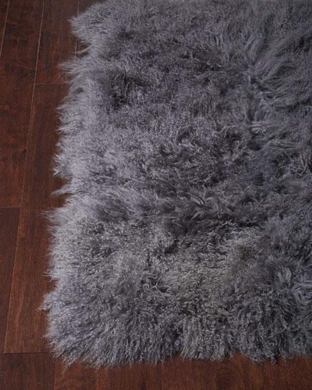 Cindy Tibetan Lamb Accent Rug, 3' x 5'