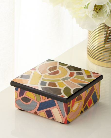 Barile Biagio Multicolor Inlaid Wood Box