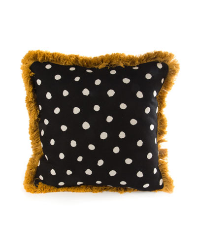 Reversible Dotty Throw Pillow