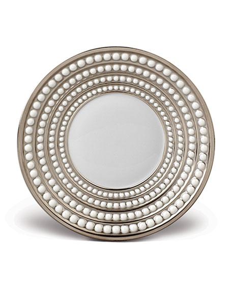 L'Objet Perlee Platinum Saucer