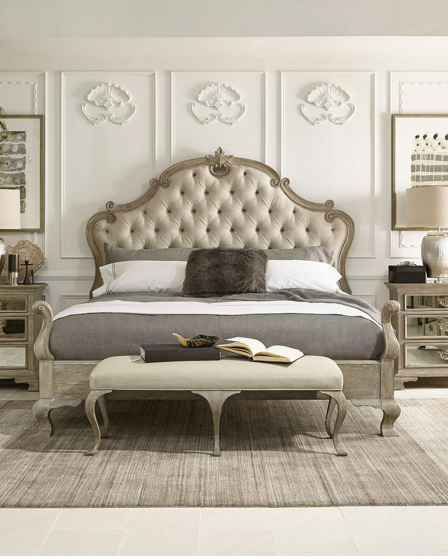 Bernhardt Campania Tufted Queen Bed Neiman Marcus