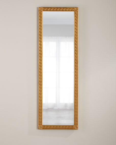 Traditional Distressed Wall Gold Mirror