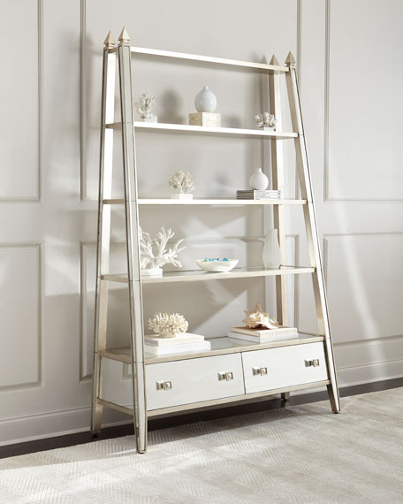 John-Richard Collection Tally Eglomise Etagere