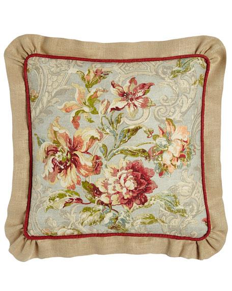 Sherry Kline Home Fresco Ruffled Square Pillow