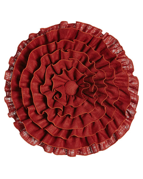 Sherry Kline Home Fresco Round Ruffle Pillow