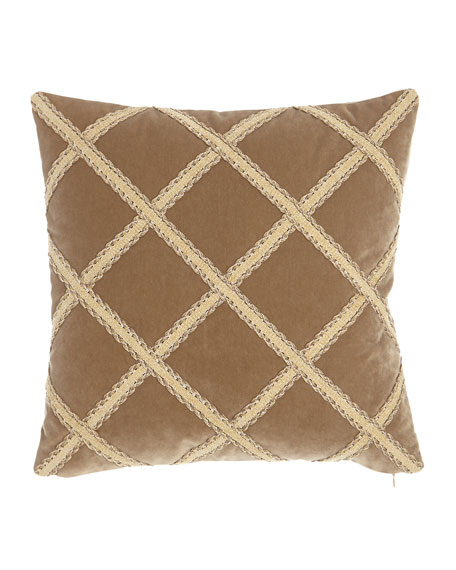 "Austin Horn Collection Renaissance Velvet Pillow, 20""Sq."