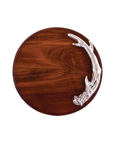 Western Antler Round Cutting Board
