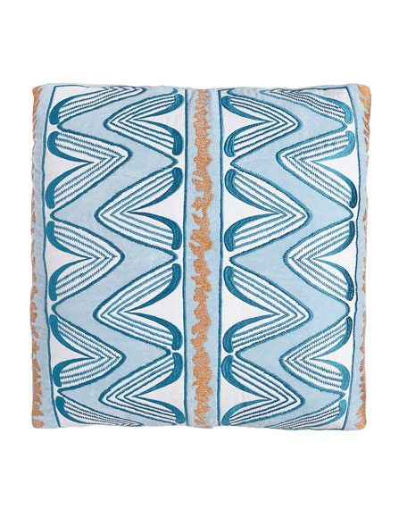 Ikat Light Blue Lounge