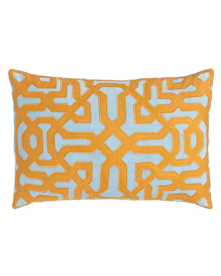 Light Blue and Orange Pillows & Matching Items