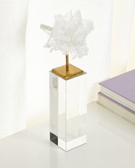 John-Richard Collection Tall Selenite Blossom on Stand