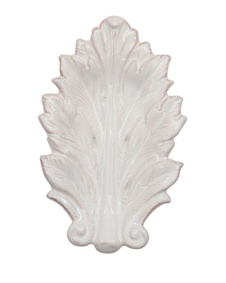 """Acanthus Whitewash 7"""" Leaf Tray"""