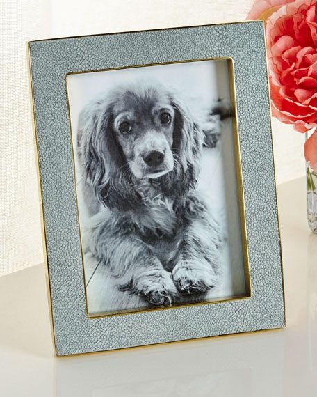 "Mist Classic Faux-Shagreen 5"" x 7"" Picture Frame"