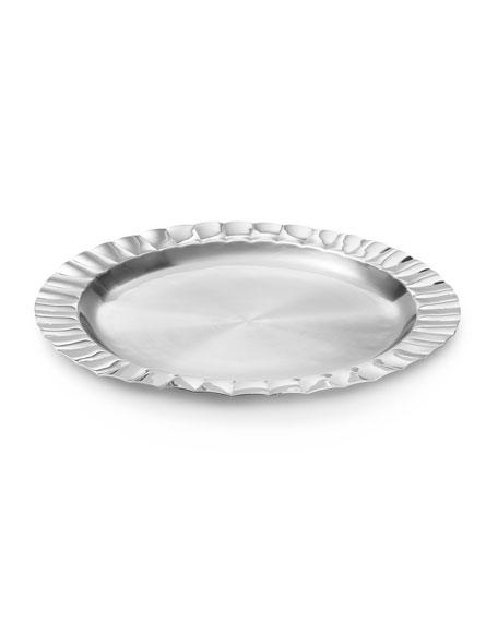 Mary Jurek Silhouette Scalloped Round Tray