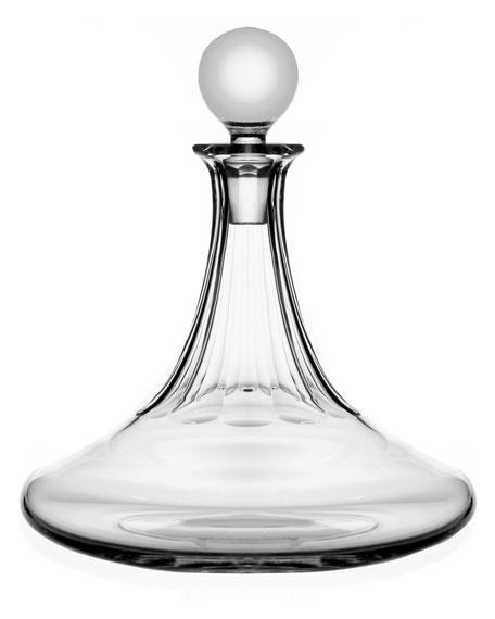 Iona Ships Crystal Decanter