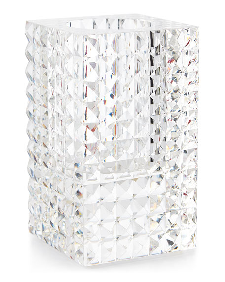 Veritas Rectangular Vase with Pyramid Cuts