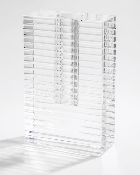 """12"""" Optical Vase with Slices"""