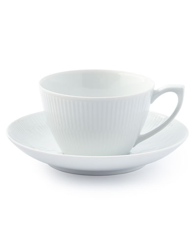White Plain Cup and Saucer
