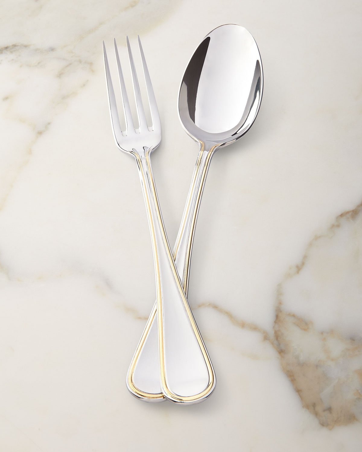 Ricci Silversmith Ascot Gold Serving Spoon