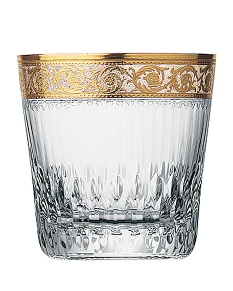 Saint Louis Crystal Thistle Gold Large Double Old-Fashioned