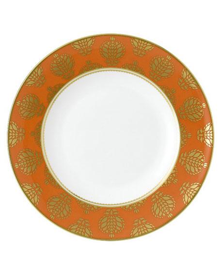 Royal Crown Derby Bristol Belle Orange Border Dinner Plate