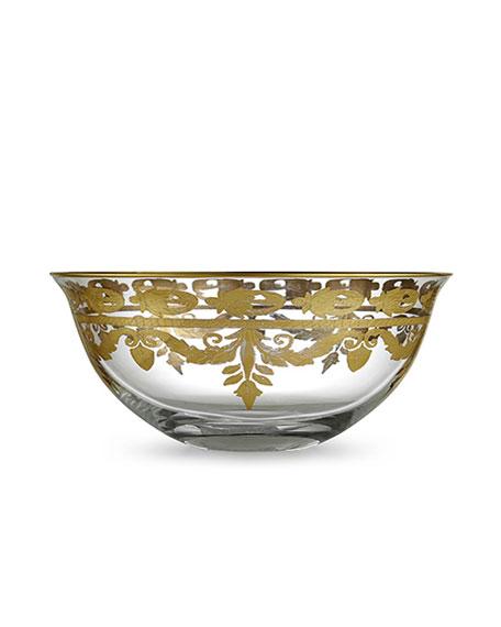 Vetro Gold Serving Bowl