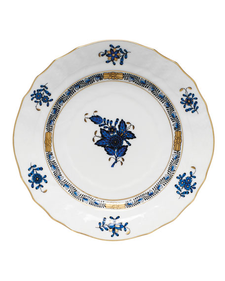 Herend Chinese Bouquet Black Sapphire Bread & Butter Plate