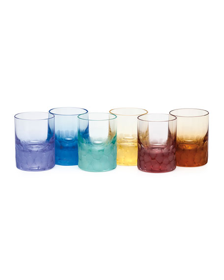 Moser Set of Six Pebbled Crystal Shot Glasses