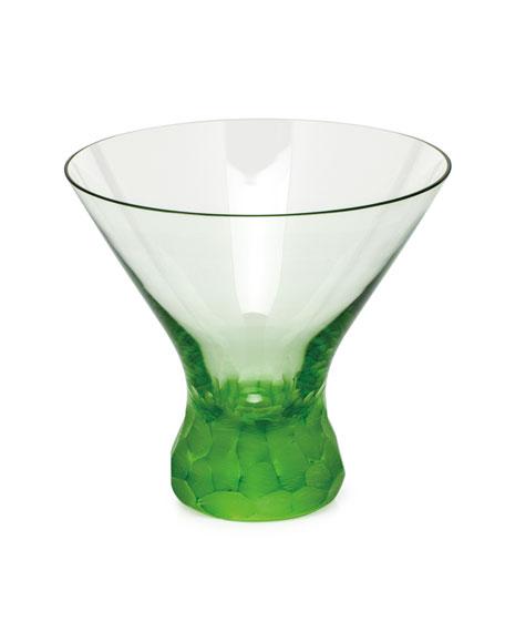 Moser Pebbles Ocean Green Martini Glass