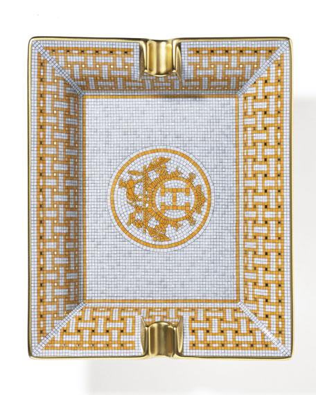 Hermès Mosaique AU 24 Gold Rectangular Ashtray
