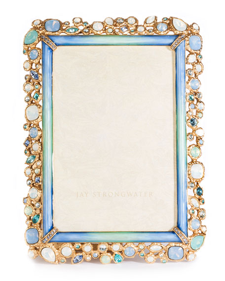 Jay Strongwater Emery Bejeweled Picture Frame, 4