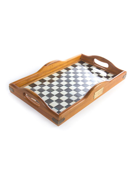 MacKenzie-Childs Courtly Check Hostess Tray, Large