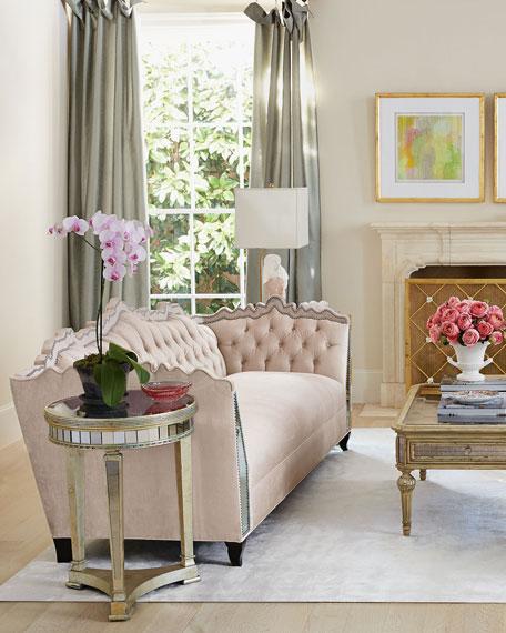"Haute House Santiago Mirrored Sofa 88"""